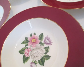 Vintage Homer Laughlin Cavalier Margaret Rose Dessert / Fruit Bowl - Set of 4