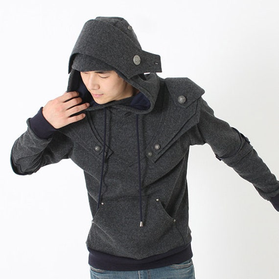 Patrick Armored Knight Hoodie(100% Handmade Wool) Made To Order/festival wear/Country Western