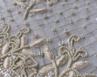 Ivory Couture Beading for Bridal Dress