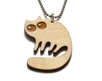 laser cut jewelry - Lasercats - Fluffy