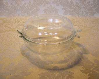 Vintage 1950s Phoenix Tempered Glass Casserole Dish With Lid