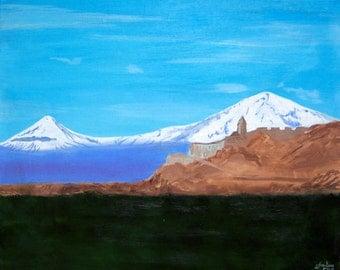 Mountain Ararat Khor Virap Armenia 16x20 Canvas Print