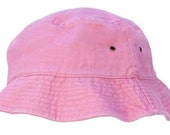 Pink 100% Cotton Stone Washed Bucket Hat