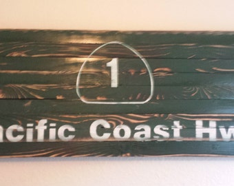 "12""x30"" Pacific Coast Highway Sign"