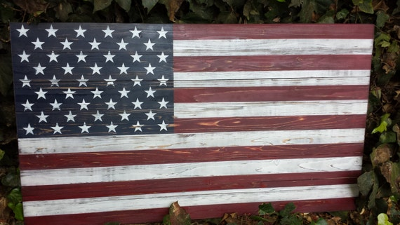 american flag wooden wall art