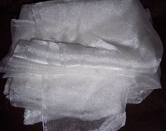 Sheer white crepon fabric, appx 3 yds by 44 inches,prom dresses,formals,costumes,wedding,confirmation,Easter