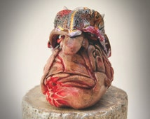 "SALE: ""Cragg""  (hand-crafted sculpey & acrylic paint)"