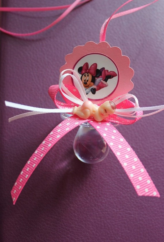 mickey and minnie mouse baby shower party favors by dualcreations