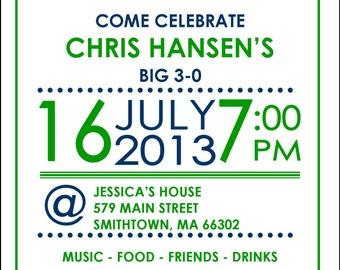 Birthday Invitation Item 00238