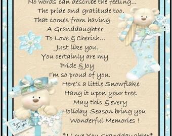 My Granddaughter Snowflake Ornament