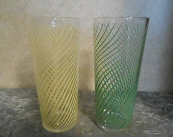 1940's Set of Two Swirl Pattern Tumblers