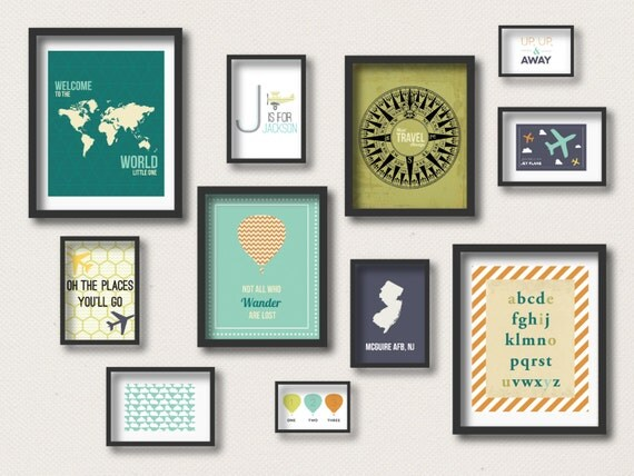 Gallery Wall Prints travel gallery wall nursery prints travel nursery decor