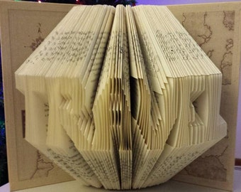 Folded Book Art - Travel (Made to order )