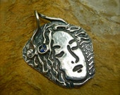 Precious Metal Clay Lovely Lady Pendant