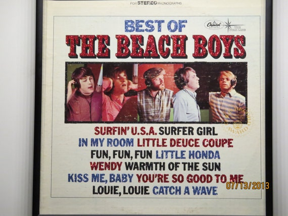 Glittered Record Album - The Beach Boys - Best of the Beach Boys