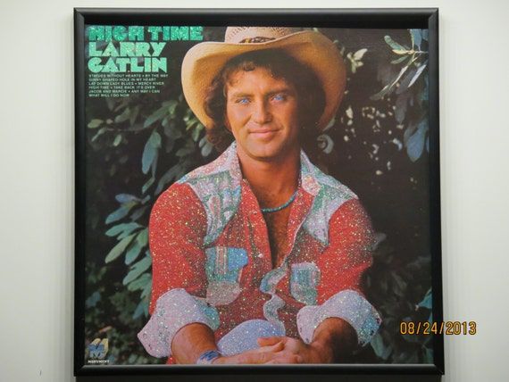 Glittered Record Album - Larry Gatlin - High Time