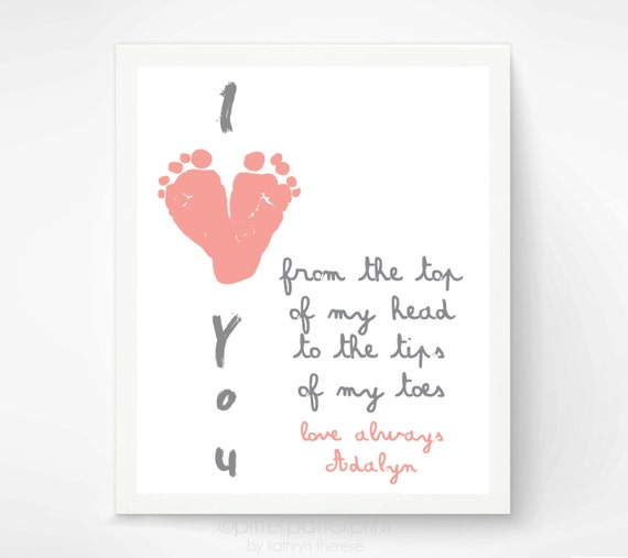 Baby Gift Ideas For New Grandparents : Gift for grandparents i love you baby by pitterpatterprint