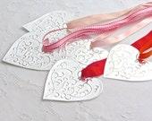 DIY Wedding Decor, Metal Hanging Hearts, Aisle Decoration, Boho Wedding Reception - FoilingStar