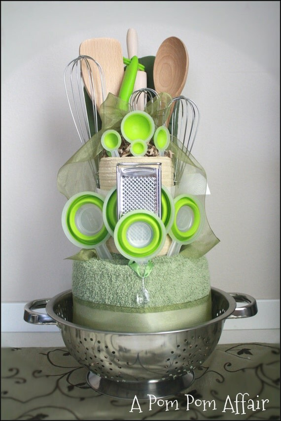 Items Similar To Kitchen Themed Towel Cake On Etsy