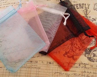 25- 2x3 Organza Gift Bags in 5 awesome colors