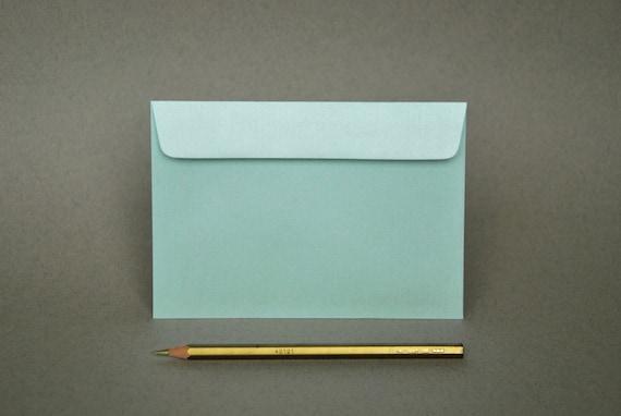 BULK 4x6 Metallic Mint Envelopes for A6 cards Pack of 50