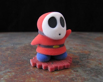 Super Mario Brothers Shy Guy Full Color Sandstone Model Gaming Icons 01