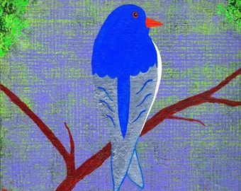 Bluebird, an original painting
