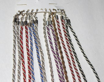 New Old Stock Vintage Lot Rope Necklace Bracelets Color 9 pcs