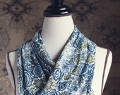 "Liberty of London Jersey ""Infinity"" Scarf in Langley in Blue"