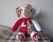 Handmade Custom Memory Elephant- Wonderful Memory Softie Keepsake - Memory Bear