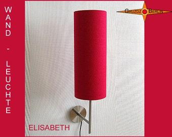 Wall lamp red ELISABETH royal red silk lamp