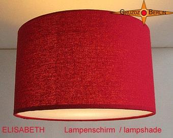 Red lamp shade silk ELISABETH Ø35 cm lampshade red silk
