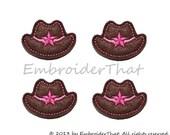 UNCUT Cowgirl Hat felt applique embellishment patch (4)