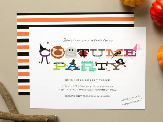 costume party invitations halloween costumes party invite, Party invitations