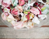 Fortune cookie wedding favors- Vintage print