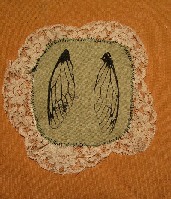 Lace Cicada Wing patch - Circle