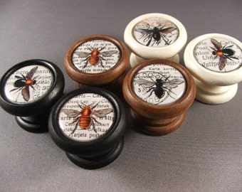 Queen Bee Decorative Knobs, Pulls, Handles...Price is for 1 Knob (Quantity Discounts Available!)