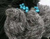 Black and Grey Lace Scarf 91