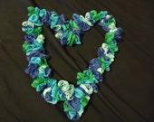 Sashay Ruffle Scarf - Blue and Green - Fashion Scarf
