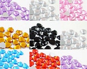 1000pcs 12-color HEART 3D flatback acrylic Rhinestones of Nail Art Design Glitter Beads Crafts supplies (2mm)
