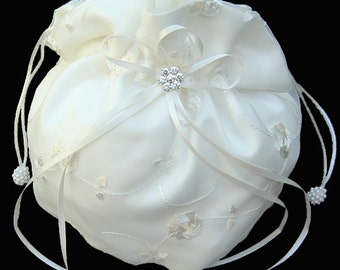 brides money bag ivory