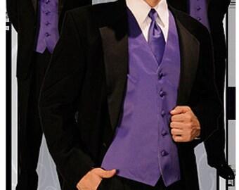 purple mens vest
