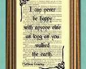 DOWNTON ABBEY Matthew Crawley Quote -Dictionary Art Print- Wall Art - Movie Quote