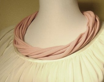 Up-cycled 16 inch  Fabric Necklace Charm scarf 5 colors to choose