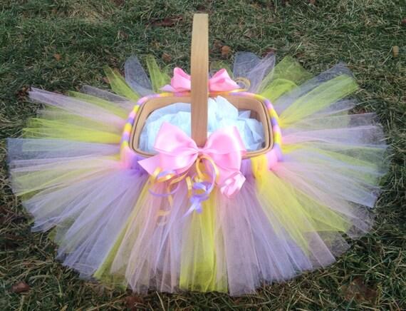 Tutu Easter Basket, Flower Girl Basket, Tutu Basket