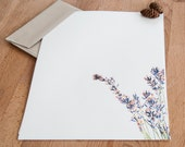 French Lavender Letter Writing Set - Letter Paper - Stationery -Personalized Gift for her