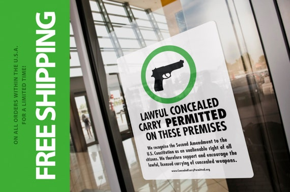 Concealed Carry Permitted decal FREE SHIPPING
