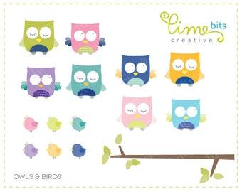 Owls & Birds Clip Art.