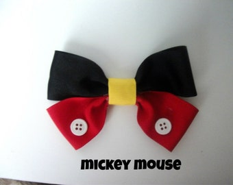 Mickey Mouse Disney Hairbow