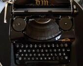 1930s rare Typewriter DM 4, Leipzig, German Design, Bauhaus, Vintage, Top Condition